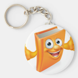 Cartoon Thumbs Up Book Basic Round Button Key Ring