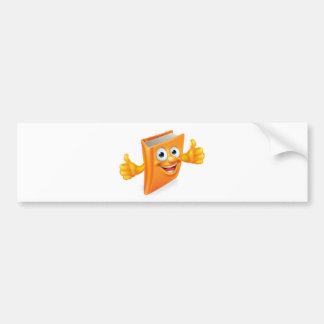 Cartoon Thumbs Up Book Bumper Sticker