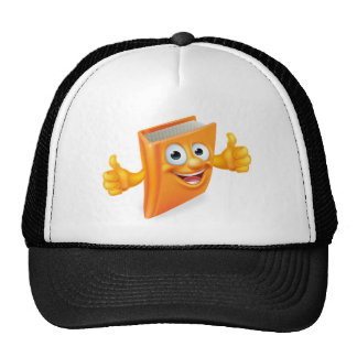 Cartoon Thumbs Up Book Cap