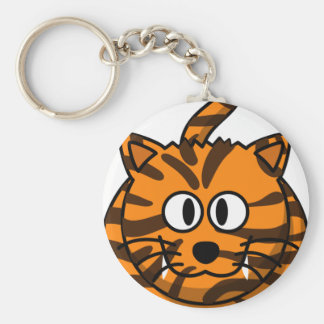 Cartoon Tiger Customizable Quality Products Basic Round Button Key Ring