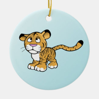 cartoon tiger round ceramic decoration