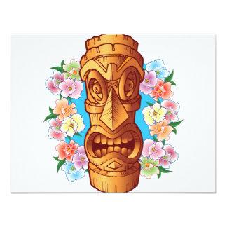 Cartoon Tiki Statue 11 Cm X 14 Cm Invitation Card