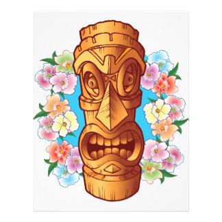 Cartoon Tiki Statue Flyer Design