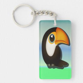 Cartoon Toucan Key Ring
