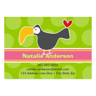 Cartoon Toucan Kid Photo Profile Name Card Business Card Template