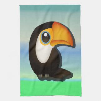 Cartoon Toucan Tea Towel
