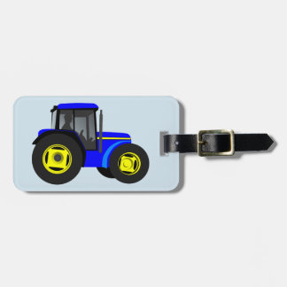 Cartoon Tractor background Luggage Tag