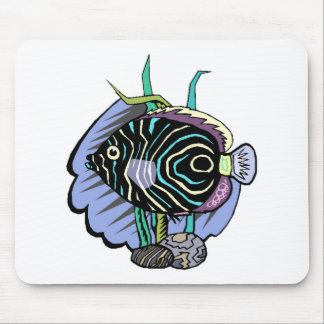 Cartoon Tropical Fish Mouse Pads
