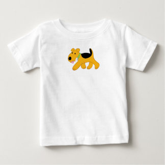 Cartoon Trotting Airedale Terrier Puppy Tee