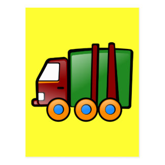 Cartoon Truck Postcard