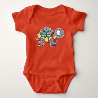 cartoon turtle baby bodysuit