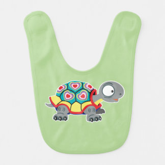 cartoon turtle bib