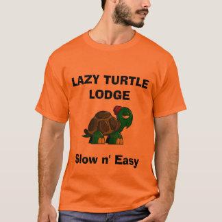 cartoon-turtle-clipart, LAZY TURTLE LODGE, Slow... T-Shirt