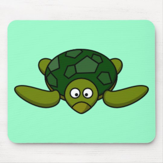 Cartoon Turtle Mouse Pad