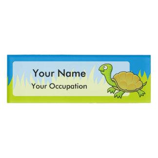 Cartoon Turtle Name Tag