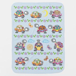 cartoon turtles baby blanket