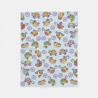 cartoon turtles fleece blanket