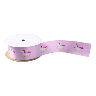 "Cartoon Unicorn 1.5"" Satin Ribbon"