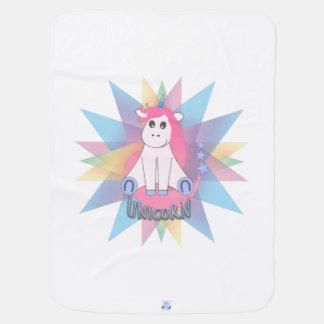 Cartoon Unicorn Baby Blanket