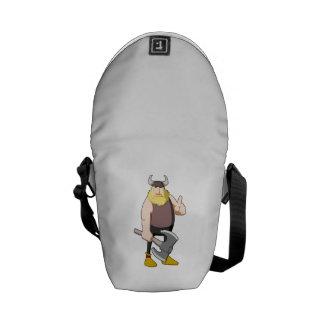 Cartoon Viking Messenger Bags