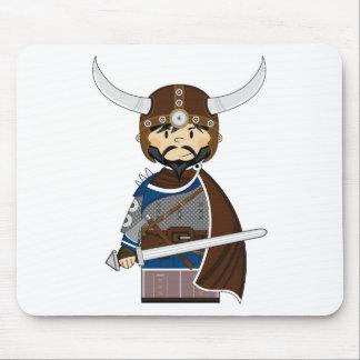 Cartoon Viking Warrior Mouse Mat