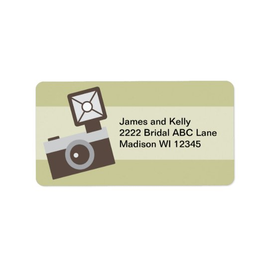 Cartoon Vintage Camera Address Label