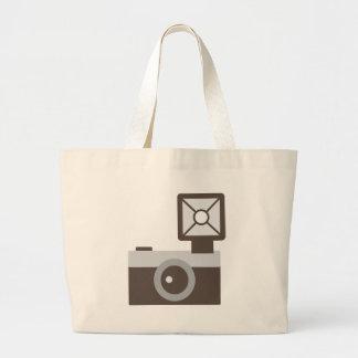 Cartoon Vintage Camera Large Tote Bag