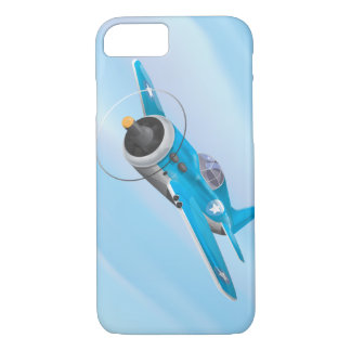 Cartoon Vintage Fighter plane iPhone 7 Case