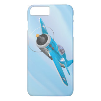 Cartoon Vintage Fighter plane iPhone 7 Plus Case