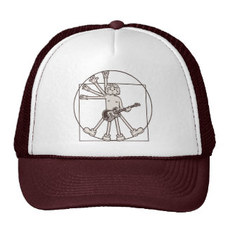 Cartoon Vitruvian Rocker Cap