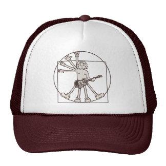 Cartoon Vitruvian Rocker Cap