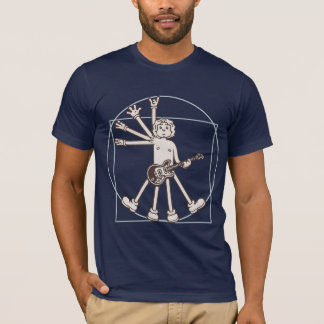 Cartoon Vitruvian Rocker T-Shirt