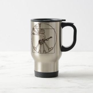 Cartoon Vitruvian Rocker Travel Mug