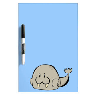 Cartoon Walrus Dry Erase Whiteboards