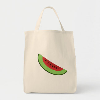 Cartoon Watermelon Slice Bag Grocery Tote Bag