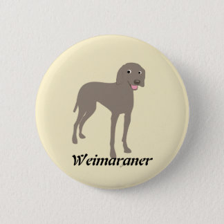 Cartoon Weimaraner 6 Cm Round Badge