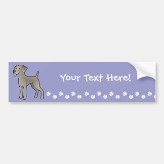 Cartoon Weimaraner Bumper Sticker