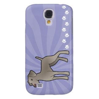 Cartoon Weimaraner Galaxy S4 Case