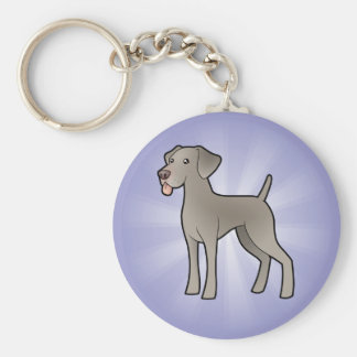 Cartoon Weimaraner Key Ring