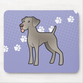 Cartoon Weimaraner Mouse Mat