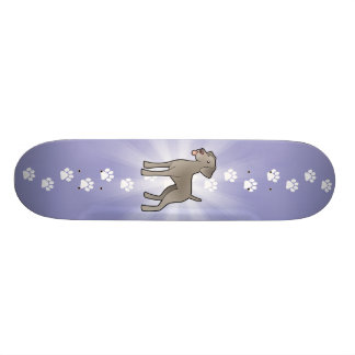 Cartoon Weimaraner Skate Board