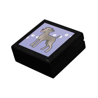 Cartoon Weimaraner Small Square Gift Box