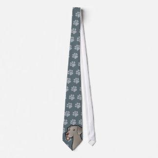 Cartoon Weimaraner Tie