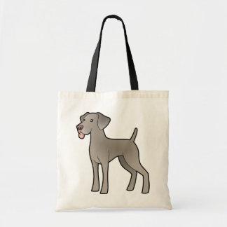 Cartoon Weimaraner Tote Bag