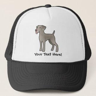 Cartoon Weimaraner Trucker Hat