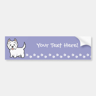 Cartoon West Highland White Terrier Bumper Sticker