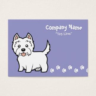 Cartoon West Highland White Terrier Business Card