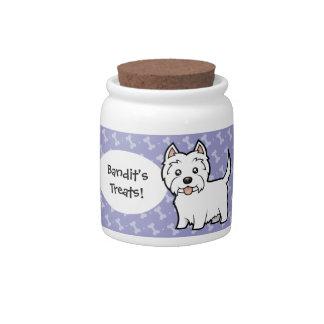 Cartoon West Highland White Terrier Candy Jars