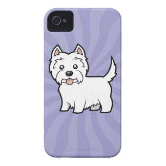 Cartoon West Highland White Terrier Case-Mate iPhone 4 Cases