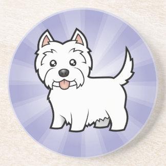 Cartoon West Highland White Terrier Coaster